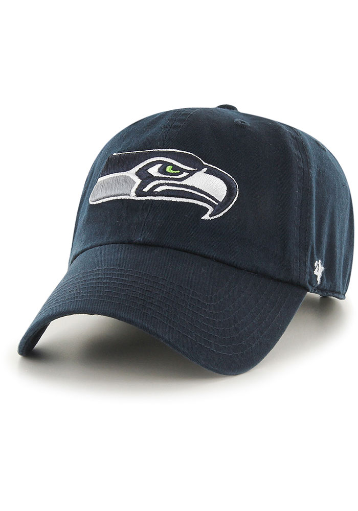 47 Seattle Seahawks Clean Up Adjustable Hat - Navy Blue - Image 1