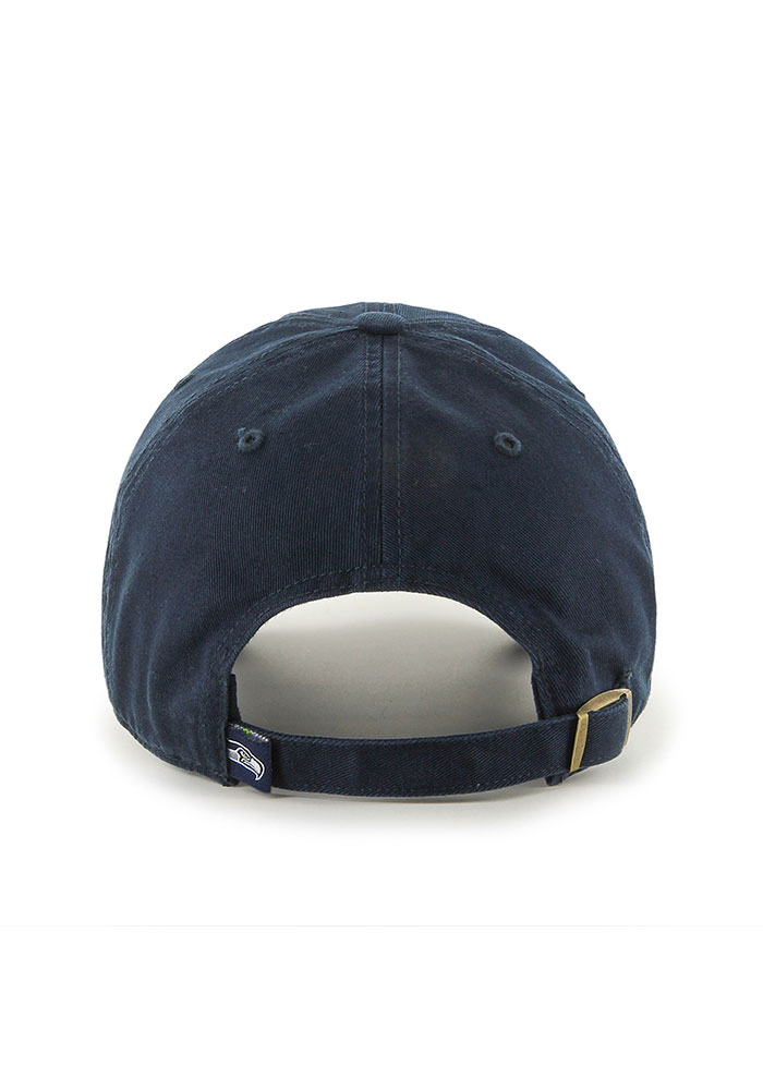 47 Seattle Seahawks Clean Up Adjustable Hat - Navy Blue - Image 2