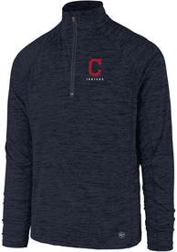 47 Cleveland Indians Navy Blue Impact 1/4 Zip Pullover