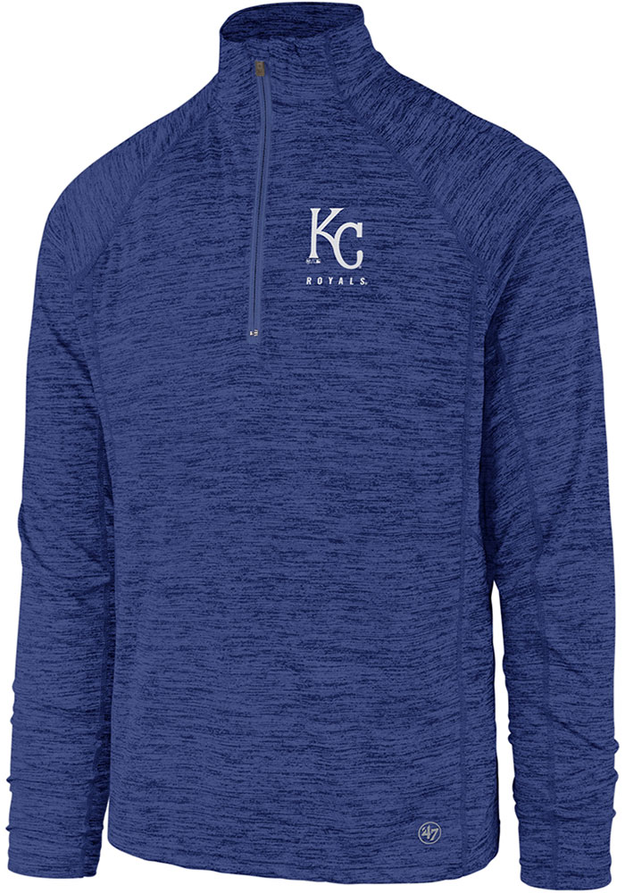 47 Kansas City Royals Blue Impact 1/4 Zip Pullover