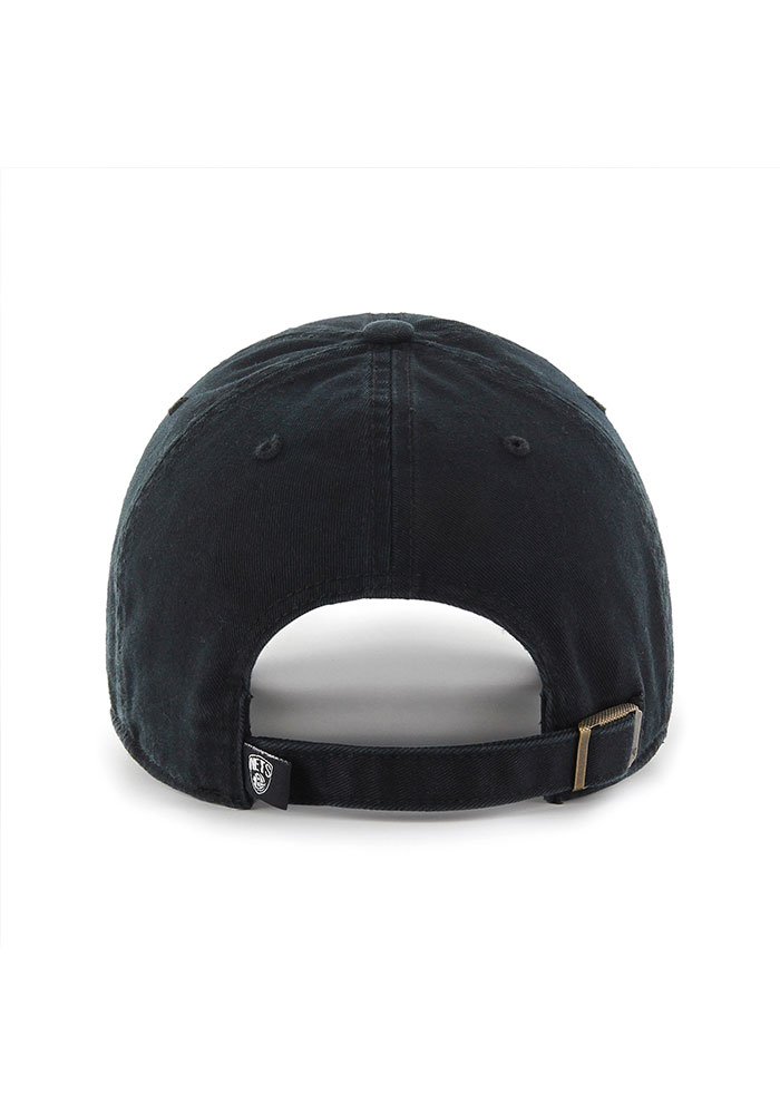 '47 Brooklyn Nets Clean Up Adjustable Hat - Black - Image 2
