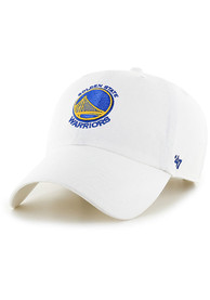 Golden State Warriors 47 Clean Up Adjustable Hat - White
