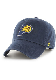 47 Indiana Pacers Clean Up Adjustable Hat - Navy Blue