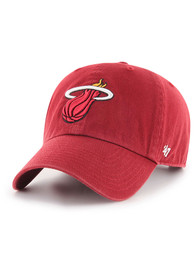 47 Miami Heat Clean Up Adjustable Hat - Red