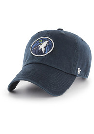 47 Minnesota Timberwolves Clean Up Adjustable Hat - Navy Blue