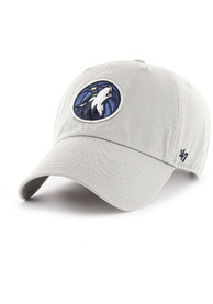 47 Minnesota Timberwolves Clean Up Adjustable Hat - Grey