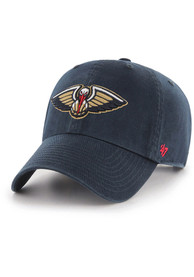 47 New Orleans Pelicans Clean Up Adjustable Hat - Navy Blue