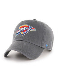 47 Oklahoma City Thunder Clean Up Adjustable Hat - Charcoal