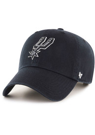 47 San Antonio Spurs Clean Up Adjustable Hat - Black
