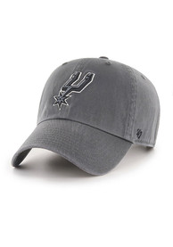 San Antonio Spurs 47 Clean Up Adjustable Hat - Charcoal