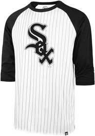 47 Chicago White Sox White Pinstripe Raglan Fashion Tee