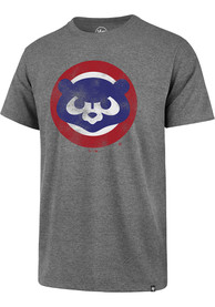Chicago Cubs 47 Throwback Super Rival T Shirt - Grey