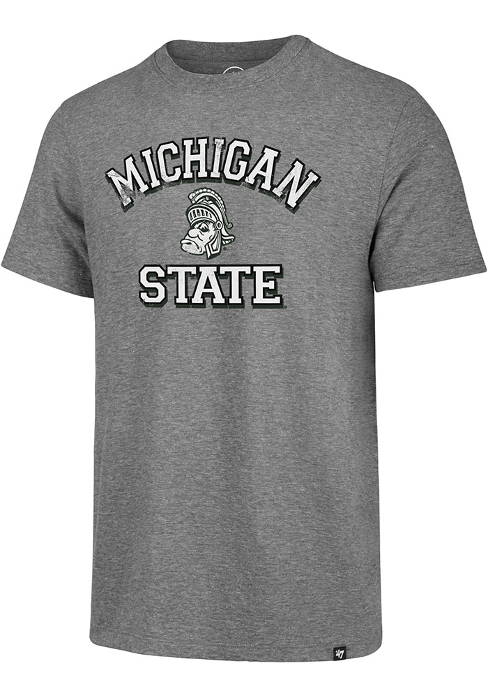 Michigan State Spartans Grey Number One Match Short Sleeve Fashion T Shirt - Image 1
