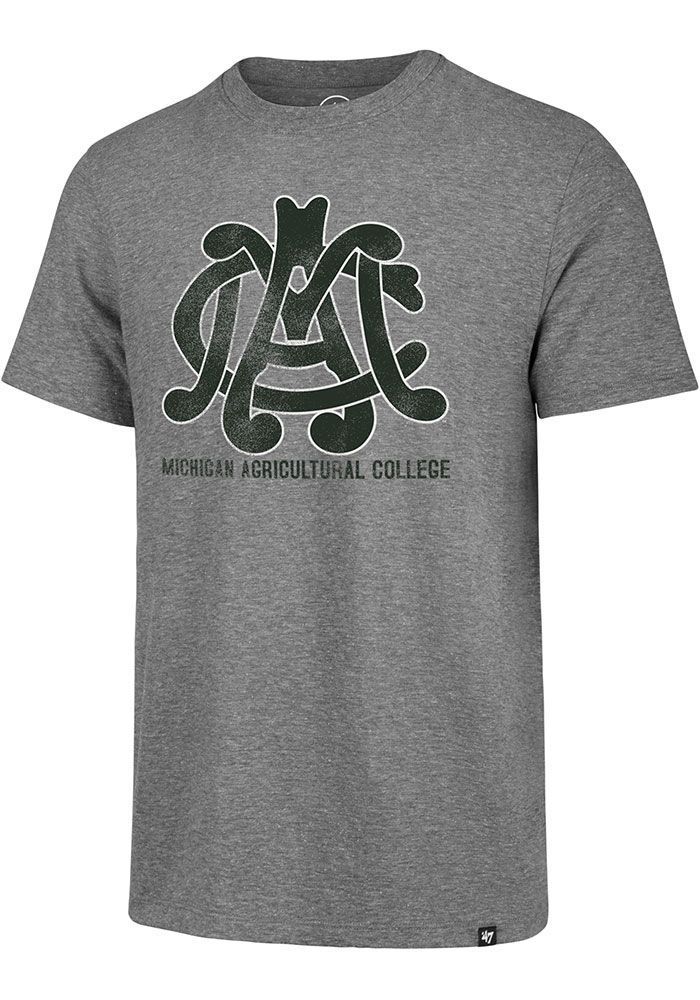 Michigan State Spartans Michigan Agriculture College Match Fashion T Shirt - Grey