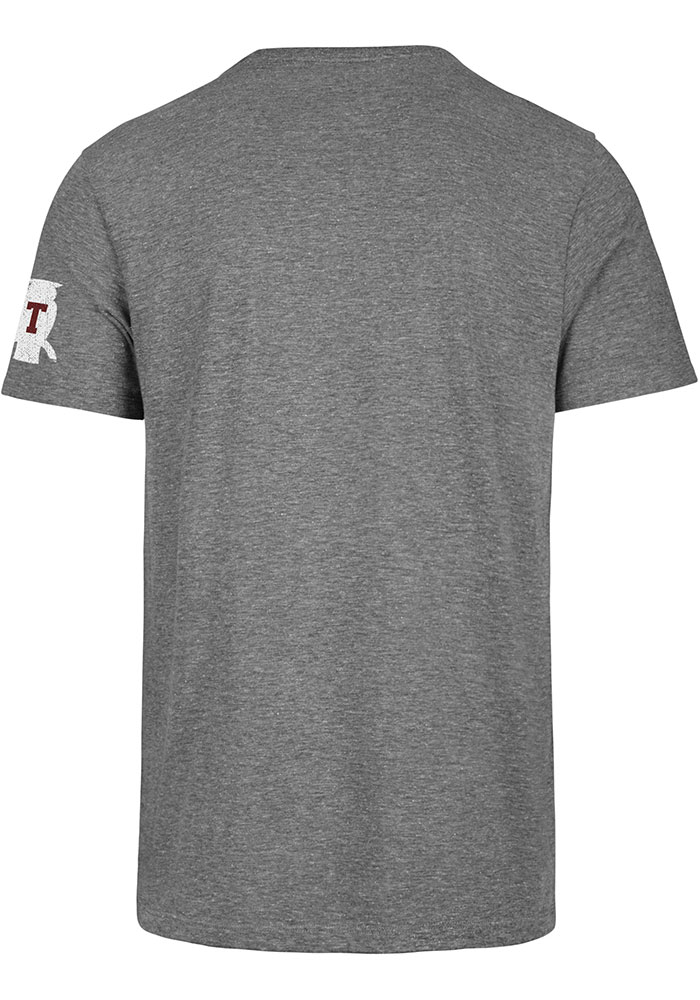 Temple Owls Grey Script Match Short Sleeve Fashion T Shirt - Image 2