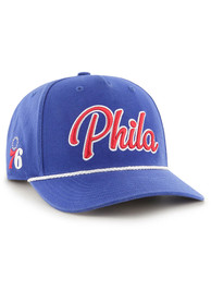 47 Philadelphia 76ers Overhand Script MVP Adjustable Hat - Blue