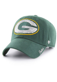 47 Green Bay Packers Womens Green Sparkle Clean Up Adjustable Hat