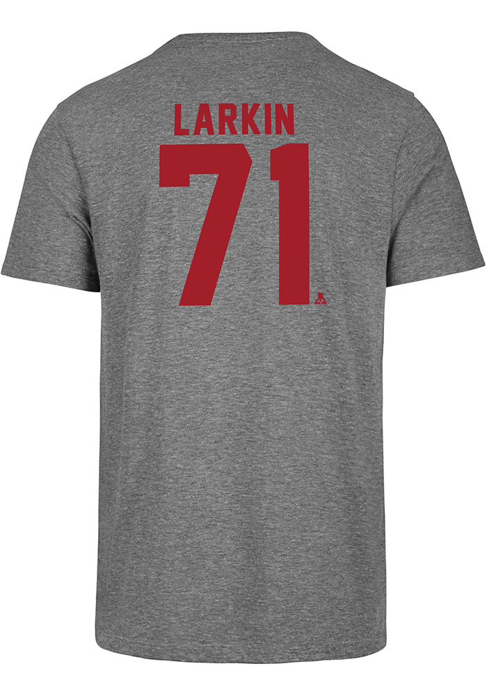 Dylan Larkin Detroit Red Wings Grey Most Valuable Player Short Sleeve Fashion Player T Shirt - Image 1