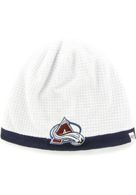 47 Columbus Blue Jackets White Grid Beanie Youth Knit Hat