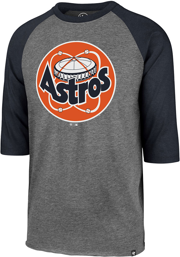'47 Houston Astros Grey Cooperstown Long Sleeve Fashion T Shirt - Image 1