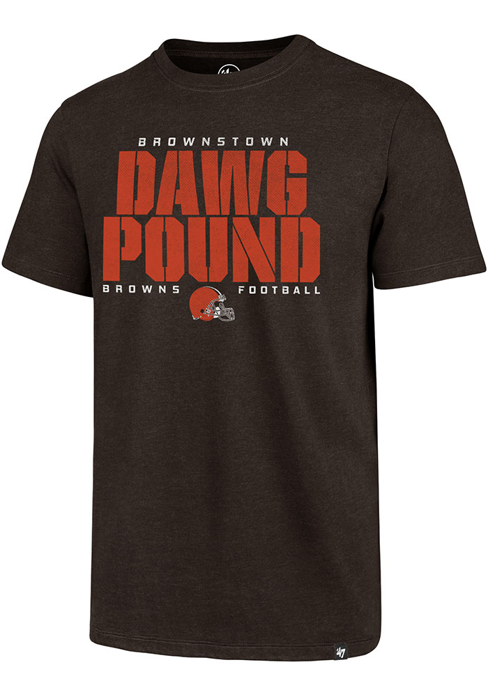 Cleveland Browns 47 Dawg Pound T Shirt - Brown