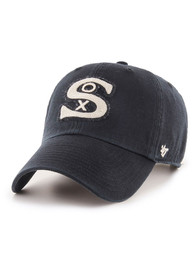 Chicago White Sox 47 Retro McClean Clean Up Adjustable Hat - Black