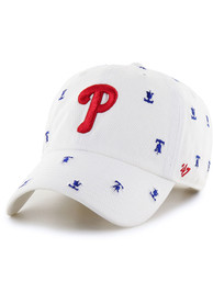 '47 Philadelphia Phillies Womens White Confetti Clean Up Adjustable Hat