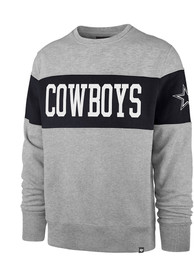 Dallas Cowboys 47 Interstate Crew Fashion Sweatshirt - Grey