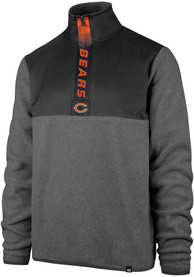 47 Chicago Bears Grey Alpine Fleece 1/4 Zip Pullover