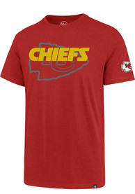 premium selection 52835 d01fc '47 Kansas City Chiefs Red Two Peat Super Rival Tee