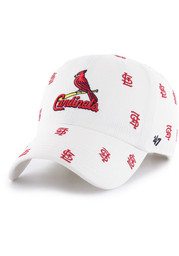'47 St Louis Cardinals Womens White Confetti Clean Up Adjustable Hat