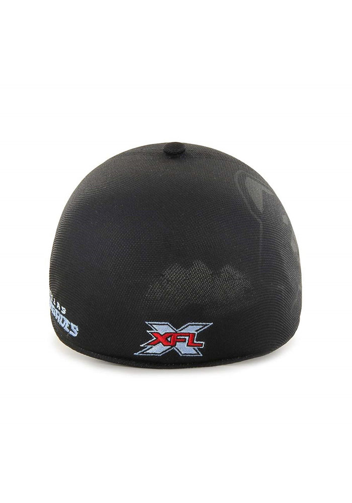 47 Dallas Renegades Mens Black XFL 2020 Sideline Solo Flex Hat - Image 3