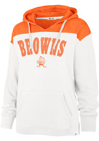 Cleveland Browns Womens 47 Emerson Hooded Sweatshirt - White