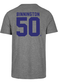 Jordan Binnington St Louis Blues 47 Most Valuable Player T-Shirt - Grey