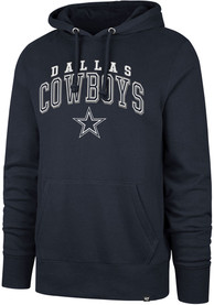Dallas Cowboys 47 Double Decker Hooded Sweatshirt - Navy Blue