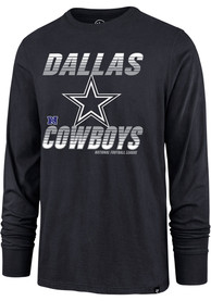 Dallas Cowboys 47 Line Rush T Shirt - Navy Blue