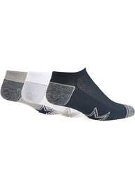 Dallas Cowboys 47 Blade 3 Pack No Show Socks - Navy Blue