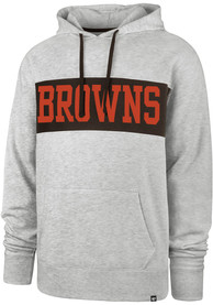 '47 Cleveland Browns Chest Pass Grey Fashion Hood