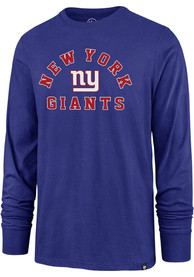 New York Giants 47 Varsity Arch Super Rival T Shirt - Blue