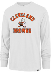 47 Cleveland Browns White Varsity Arch Super Rival Long Sleeve T Shirt