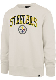 Pittsburgh Steelers 47 Arch Gamebreak Crew Sweatshirt - Tan