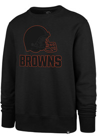 Cleveland Browns 47 Pop Imprint Headline Crew Sweatshirt - Black