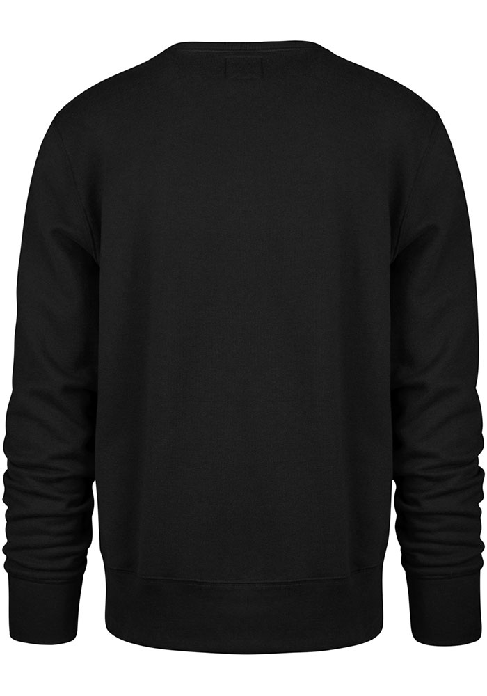 '47 Dallas Stars Mens Black Pop Imprint Headline Long Sleeve Crew Sweatshirt - Image 2