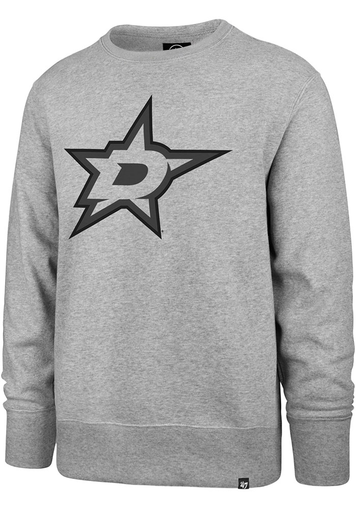 Dallas Stars 47 Pop Imprint Headline Crew Sweatshirt - Grey