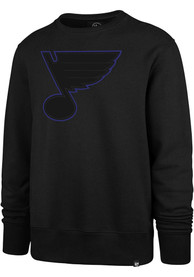 St Louis Blues 47 Pop Imprint Headline Crew Sweatshirt - Black