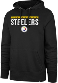 Pittsburgh Steelers 47 Power Luck Headline Hooded Sweatshirt - Black