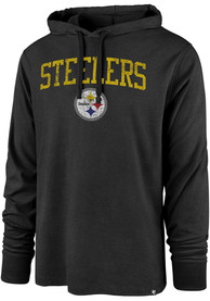 Pittsburgh Steelers 47 Power Up Club Hooded Sweatshirt - Black