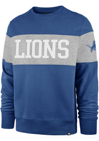 Detroit Lions 47 Interstate Crew Fashion Sweatshirt - Blue