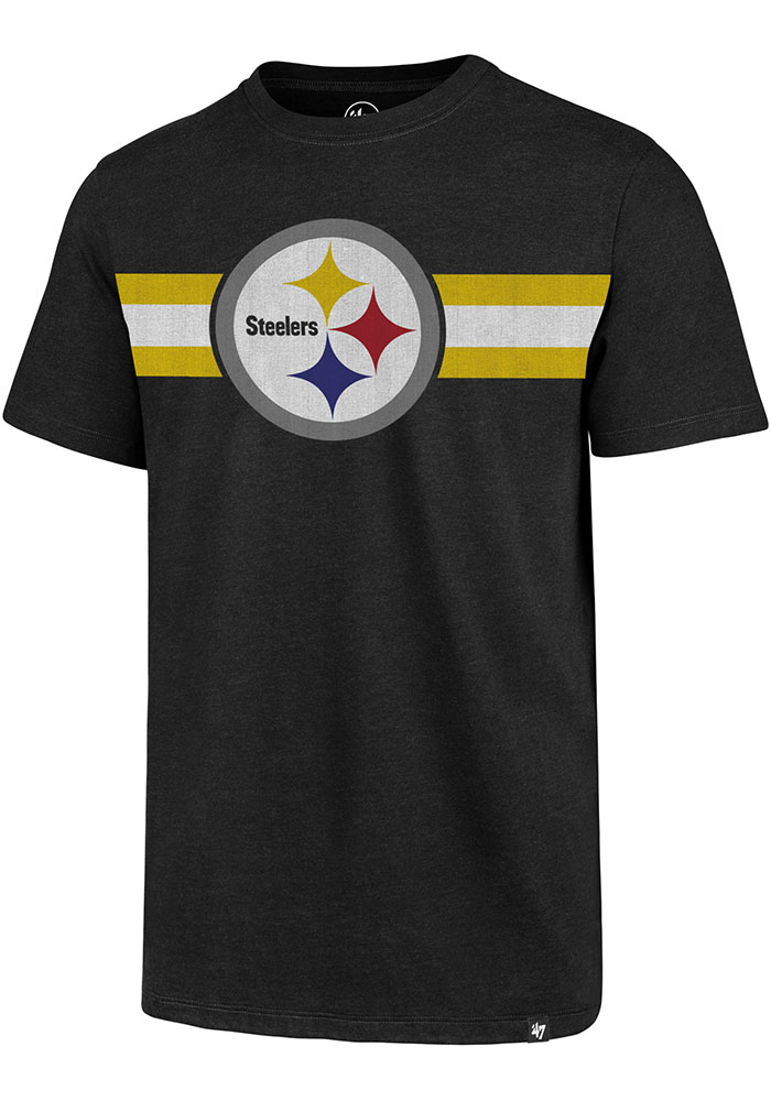 Pittsburgh Steelers 47 Coast to Coast Fashion T Shirt - Black