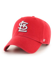 47 St Louis Cardinals Clean Up Adjustable Hat - Red